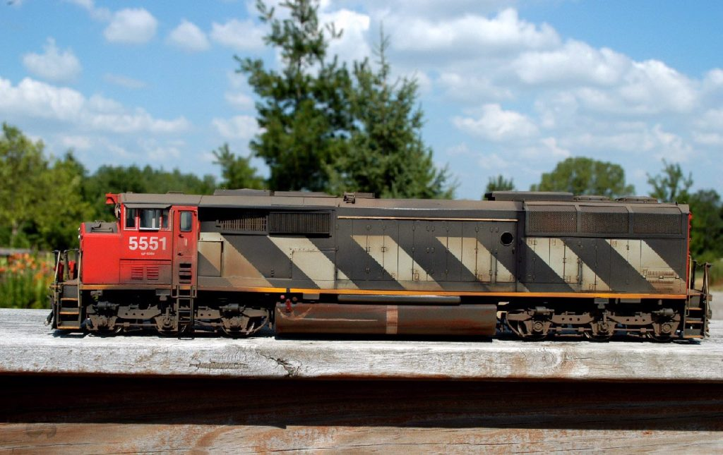 """O"" Scale Brass Canadian National SD60F #5551"